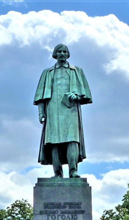 Monument to Nikolai Gogol by sculptor Nikolai Tomsky in Moscow. 1952 year