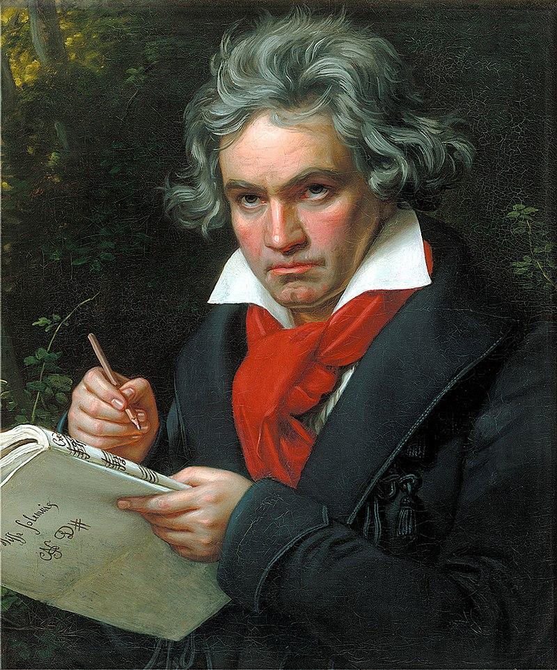 Портрет Бетховена в 1820 году созданный Штилерем Йозефом Карлом