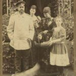 Tsar Alexander III with his family in the last year of his life in 1894.