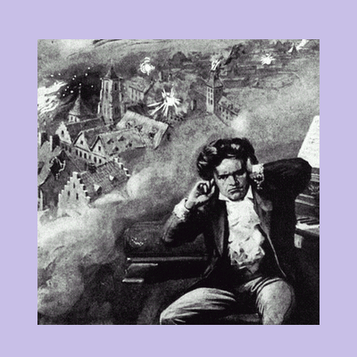 The deafened Ludwig van Beethoven continues to energetically compose his music.
