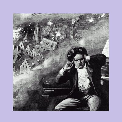 Оглохший Людвиг ван Бетховен продолжает энергично сочинять свою музыку.