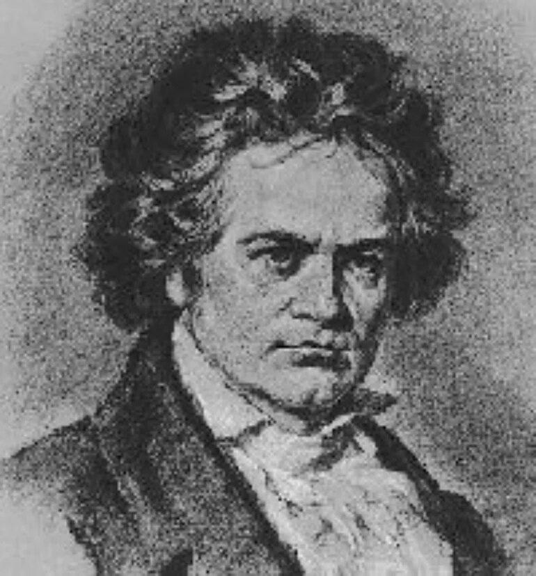 Портрет Людвига ван Бетховена.