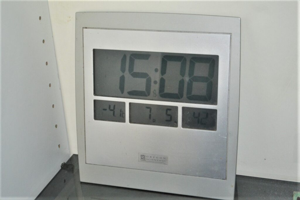 Minus 4 degrees Celsius produced by high voltage cooling ultrasound on an electronic thermometer